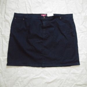 Woman Within Queen Size Denim Skirt 38W